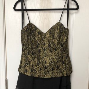 Cocktail dress Patra Size 8 Gold and Black